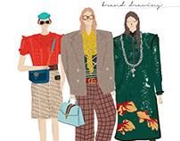 brand drawing #Gucci