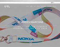 Website Cordões Marcone