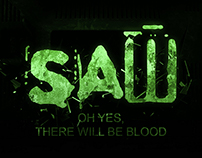 """ SAW "" Movie poster"