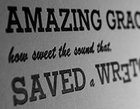Amazing Grace Letterpress