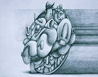 Roule poulette. Pencil on paper, 30x20cm