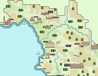 Cartina della Provincia di Salerno, Italia