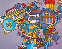 Tezcatlipoca vs Hip Hop on Adobe Illustrator on iPad
