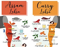 Infographic: Assam Laksa VS Curry Laksa