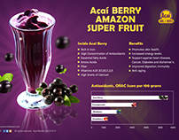 Graphic Design for Acai Berry Middle East