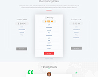 My idea zoho landing page design