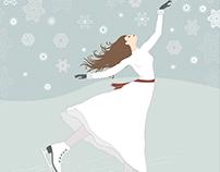 Snowflakes and Ice Skates