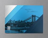 Cool Blue Modern Brochure