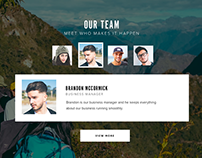 Team page