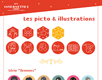 Les Internettes, pictos & illustrations