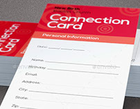 Core Values Church Connection Card Template
