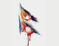 Nepal Bleeding: Digital Art