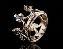Crown Ring - Princess crown ring Tyvodar.com