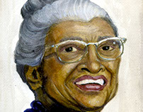 Rosa Parks Watercolor Portrait