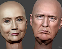 Donald Trump and Hillary Clinton )