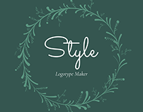Vintage Clothing Store Logo Maker with Flower Garland