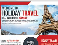 Business Tour Travel Post Card