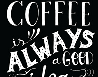 Coffee sign for a Cafe