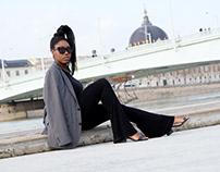 Claudia en bord de Rhône