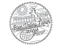Blue Valley North Tennis T-Shirt Design