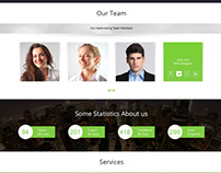 Entro Single page PSD Template