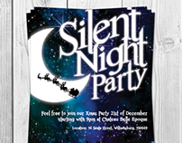 Silent Night Party Invitation