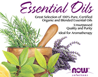 Essential Oil Window Cling Poster
