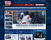 NY GIANTS HOME PAGE DESIGN