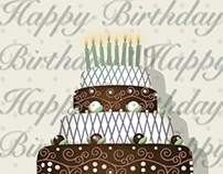 Cake_Greeting cards and paper gift