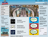 Maquetación web Centro Comercial