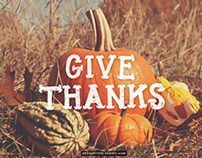 Give Thanks Lettering & Photography