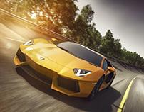 Lamborghini Aventador _ Bank Circuit - CGI + Retouching