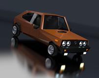 FSO Polonez Low Poly