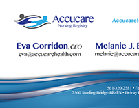 Accucare Nursing Business Cards