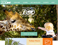 Philadelphia Zoo Website Design