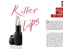 """Killer Lips"" Magazine Spread"