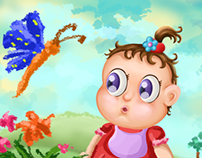 baby & butterfly