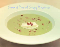Cream of Peas w/ Crispy Prosciutto