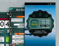 Ezan Vakti Pro Android Widget Design