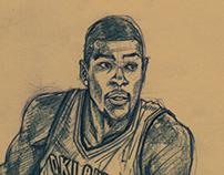 Random Sketch: Kevin Durant