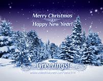 Xmas Holiday Corporate Greetings e-card