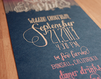 Lettered Wedding Invites