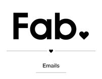 Fab.com Emails Design & Development