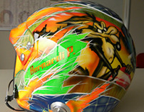 Custom Paint on a Rally Helmet