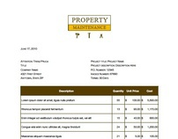 Property Maintenance Invoice