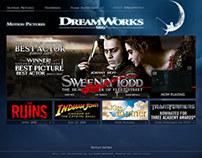 DreamWorks Studios Website