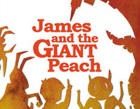 James and the Giant Peach - Roald Dahl Cover design.