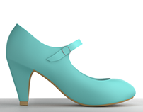 Mary Jane in Turquoise - 3D Modeling