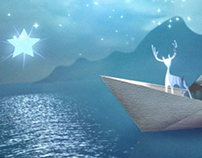 Reindeer Animated Xmas Card