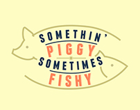 Somethin' Piggy Sometimes Fishy New Logo